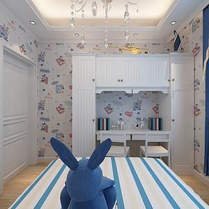 保利罗兰公馆简欧风格儿童房装修效果图