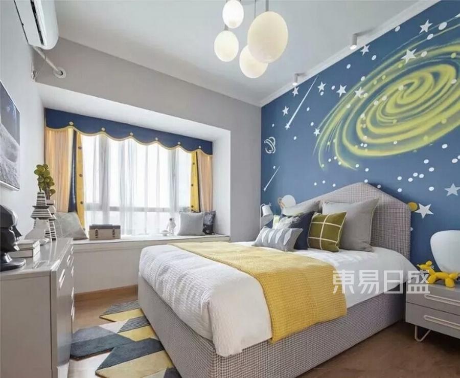 三室两厅装修-新中式风格案例-儿童房装修效果图