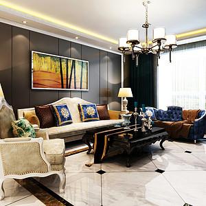 安宁庭院-156平米-混搭风格装细案例效果图