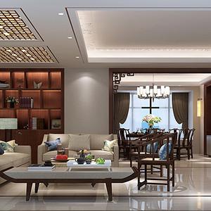 新中式装修效果图 客厅装饰设计