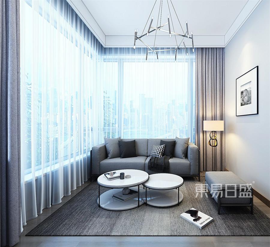 跃层-极简-室内阳台-效果图
