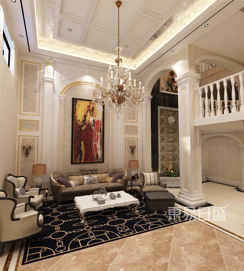 新新逸墅欧式客厅装修效果图效果图_装修效果图大全