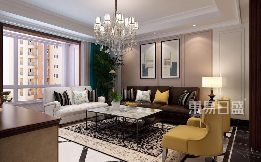 现代欧式风格-客厅-装修效果图