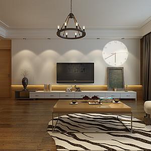 都景园116㎡两室两厅现代简约风格案例
