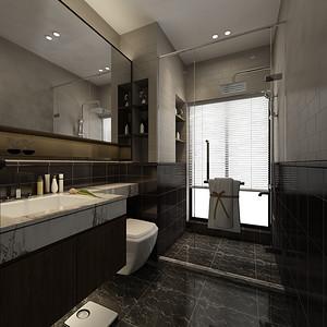 现代简约 卫生间装修效果图 三室两厅