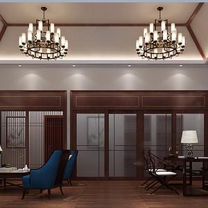 新中式装修效果图 餐厅装饰设计