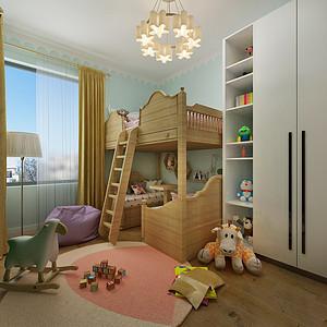 现代风格儿童房效果图