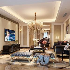 旺角城美式风格客厅