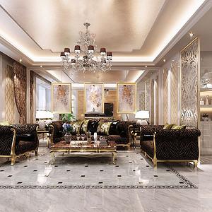 客厅用石材天然的纹理和自然的色彩