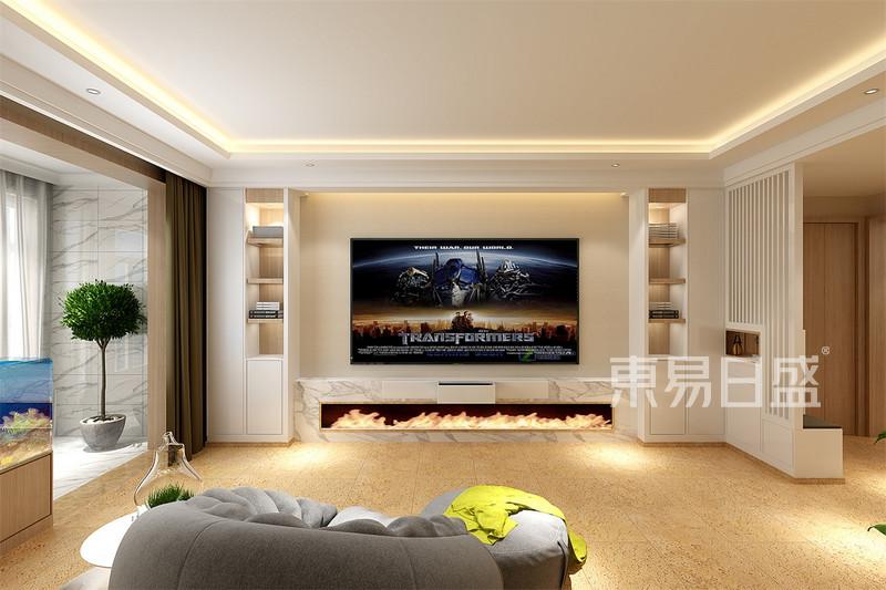 北欧-客厅电视背景墙