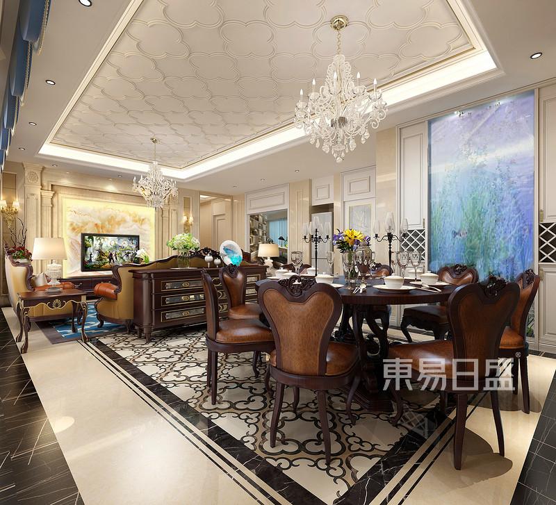 鼎峰源著四房二厅餐厅客厅装修效果图