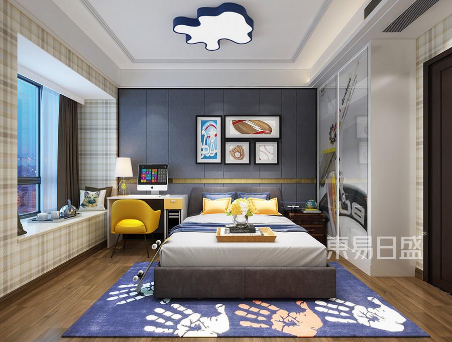 黄江湖山大境现代轻奢男孩房装修效果图