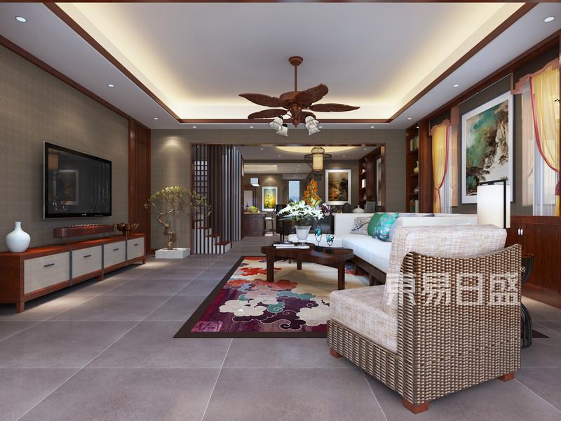 首页 室内装修效果图 > 灰色系的瓷砖搭配中式底蕴体现业主对家