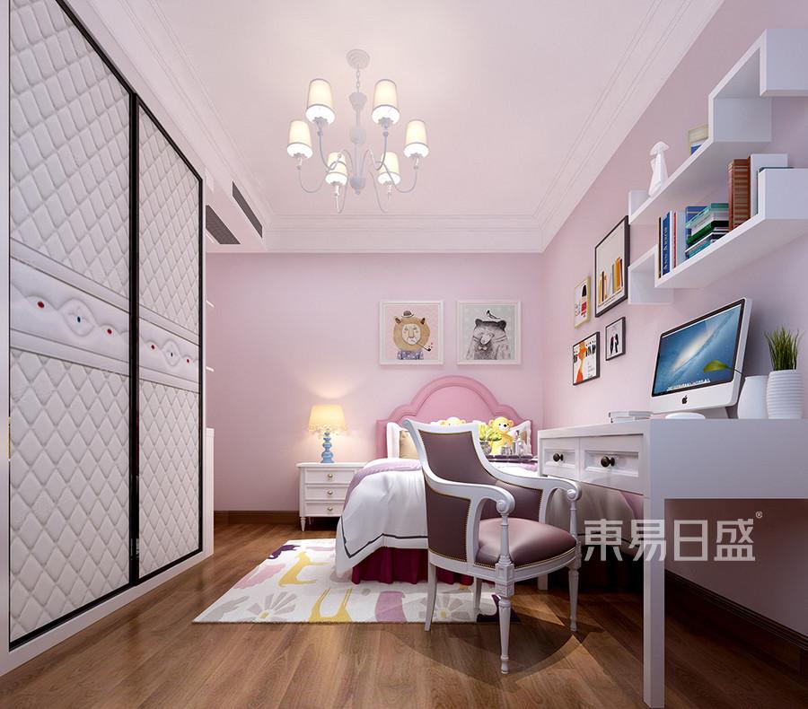 黄江湖山大境现代轻奢女孩房装修效果图
