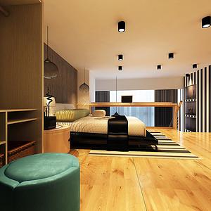 现代简约卧室整个空间舒适大方