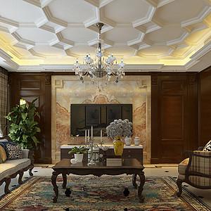 盛邦大都会180㎡四室两厅美式风格案例