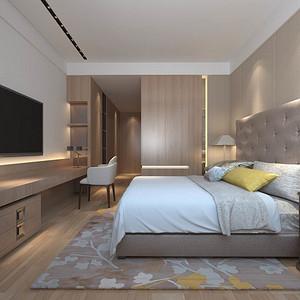 太湖国际凯旋门现代简约卧室