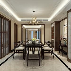 北京亚运青青家园480平新中式设计装修效果图