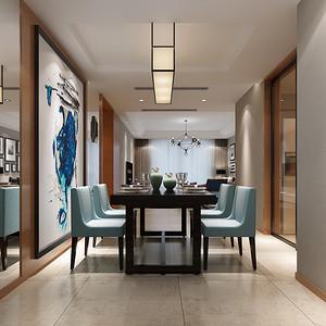 太湖国际凯旋门现代简约餐厅