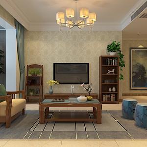 香格里-三室两厅-现代简约风格装修案例