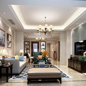 新华园法式风格客厅