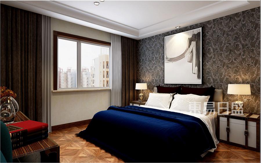 现代欧式风格-卧室-装修效果图