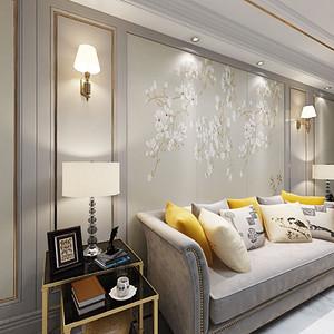 金沙泊岸新古典客厅装修设计效果图