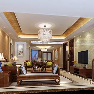 客厅装修效果图-新中式风格装饰