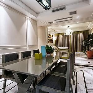 御龙天峰+现代装修风格+餐厅