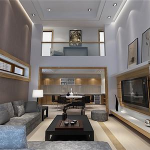 观渡苑现代风格客厅装修效果图