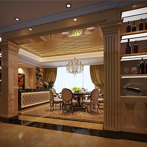别墅欧式现代风餐厅装修效果图