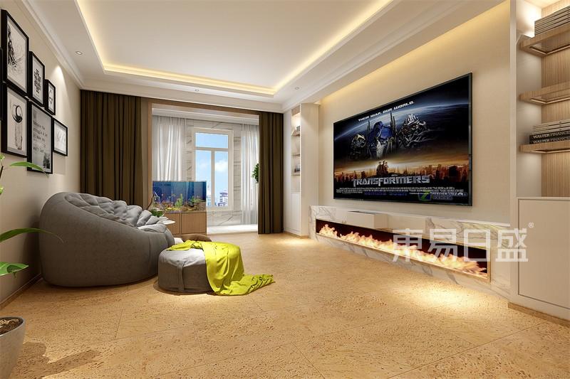室內裝修效果圖 > 北歐-客廳電視背景墻   所屬案例:常青藤北歐風格