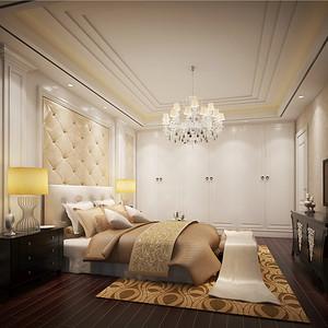别墅欧式现代风地下室卧室装修效果图