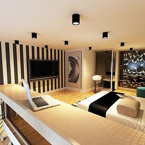 现代简约卧室明亮通透