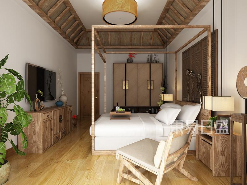 新中式 - 三盛国际中式民宿装修风格效果图展示