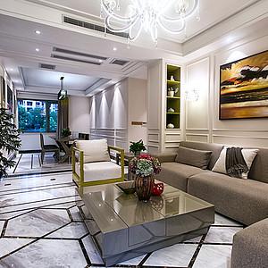 御龙天峰+现代装修风格+客厅