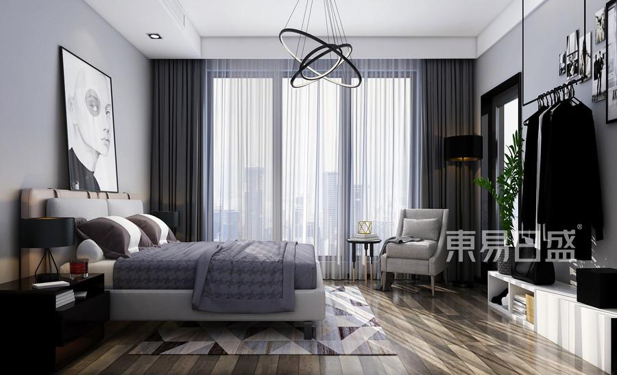 146平蔚蓝海岸联排别墅简约风格卧室装修效果图