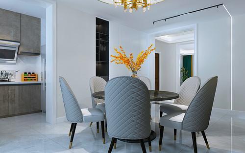 荣盛华府178平三室二厅现代轻奢装修案例