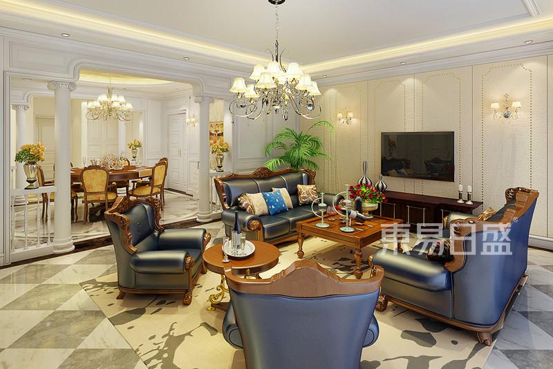 客厅2古典欧式装修效果图 三室二厅一