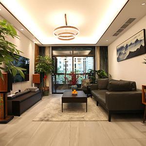 混搭风格客厅装修实景图
