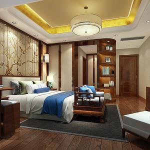 卧室装修效果图-新中式风格装饰