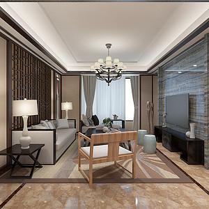 融府新中式风格客厅装修效果图