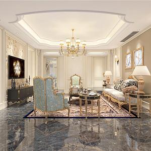 法式客厅装修设计效果图