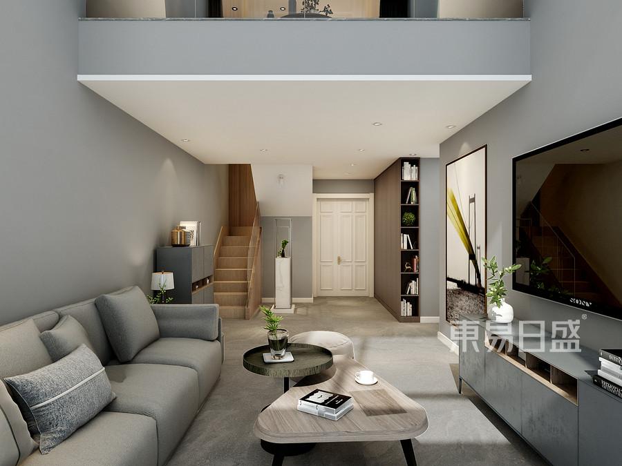 阳光怡园160平米loft现代简约风格装修效果图