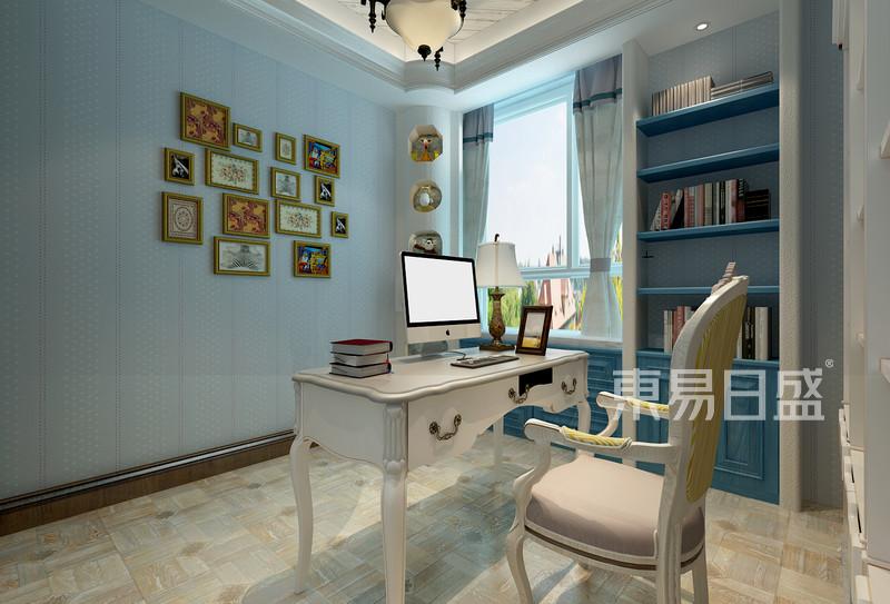 美式风格-书房-装修效果图