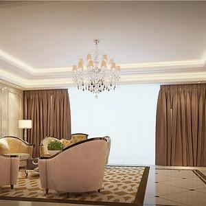 别墅欧式现代风三楼客厅装修效果图