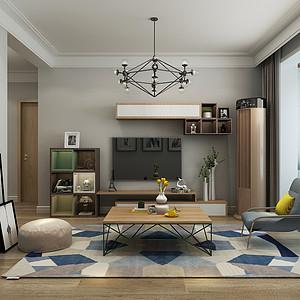 林荫大院-两室两厅-北欧风格装修案例