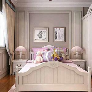 女儿房将现代中式与小女孩的粉浪漫结合