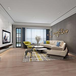 南城景湖湾畔装修案例-158㎡现代简约四房二厅装修效果图