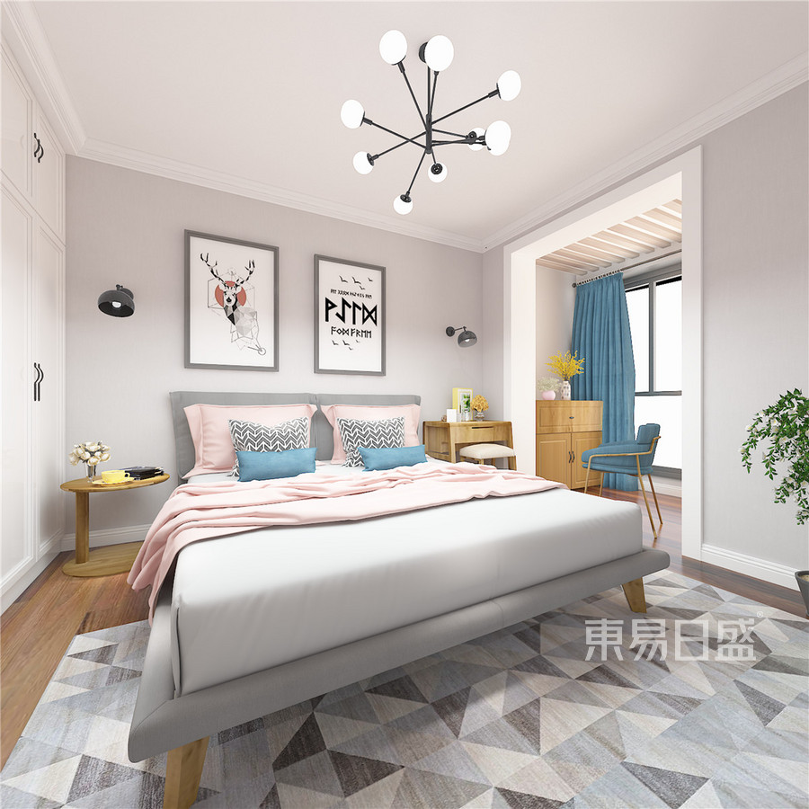 铂悦山北欧风格卧室装修效果图